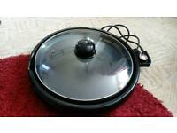 TeppanYaki portable round electric grill