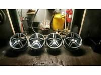 19 Mercedes AMG alloys-alloy wheels fit Audi Vw Seat 5-112
