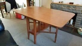 Drop leaf wooden table (fold away)