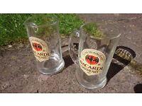 "2x Bacardi Oakheart Spiced Rum 1/2 Pint 5"" Glass Tankard"