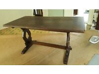 JAYCEE SOLID OAK REFECTORY DINING TABLE - EXCELLENT FOR A RESTORATION PROJECT
