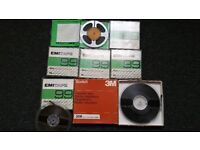 Reel to Reel tapes + boxes EMI SCOTCH 3M