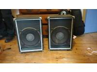 Two 1x12 front of house passive speakers