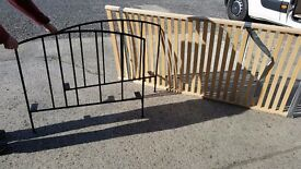 LAURA ASHLEY WROUGHT IRON SINGLE BED. EXCELLENT CONDITION. COST ABOUT £200 NEW