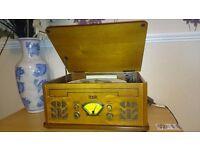 Itek antique record cd/cassette/radio player