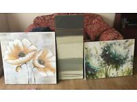 FOUR PICTURE WALL CANVAS PRINTS