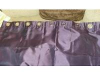 2 pairs of purple curtains