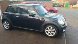 BMW Mini One 2008 newer shape black, 6 speed(cheap insurance group 5) 1.4 petrol low tax band 2keys