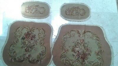Set Hand Woven Aubousson tapestry Upholstery for Chair Louis XV or Queen Ann