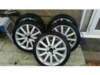 150 ono Ford fiesta st150 alloys 5 new tyres