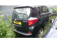 Toyota VERSO-S, Black colour, Manual, petrol, year 2011 quick sale
