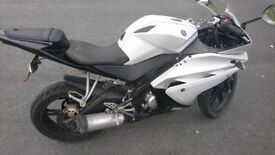Yamaha YZF R125 white, long MOT, delivery available