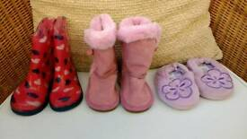 Children's kid's child's boots Size 4 (Three for one price)