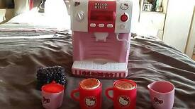 Hello Kitty child's toy coffee maker.