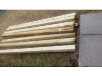 Brand new pressure treated fence posts £10 each **only 9 left**
