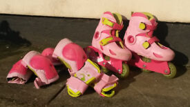 In line Skates, 3 types of protectors and bag