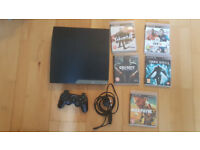 PS3 , games, controller in perfect working and cosmetic condition. Delivery options available.