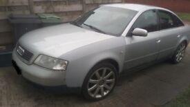 Audi A6 Sedan. 2.5TDI European Licence plate. Drivable, goes like a train.