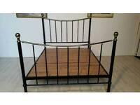 Black Metal Queen Size Bed Frame