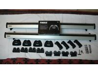 THULE LOW PROFILE WING ROOF BARS WITH RAPID SYSTEM KIT