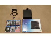 Playstation 4 Console & 6 Games Excellent Condition