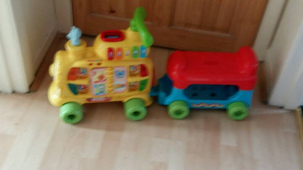 Kids alphabet train great for indoors
