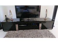 Black Gloss TV Unit and Black Gloss Side Board Unit