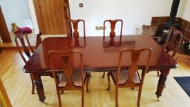 Victorian Dining Table and 6 x chairs