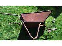 wheel barrow rustic no wheel for garden display planter