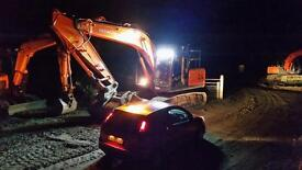 Self employed digger driver available for work