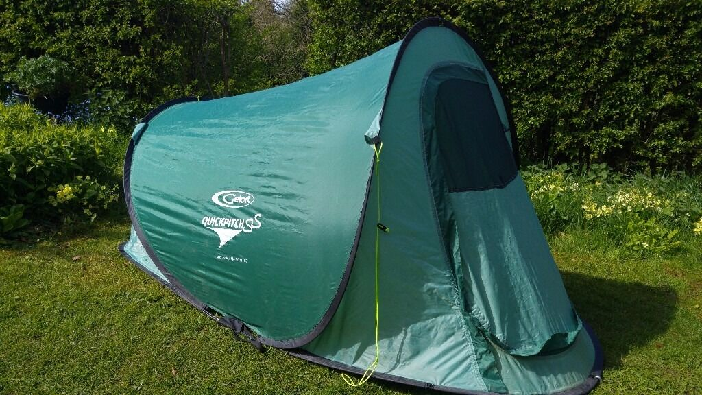 Barely Used Pop up Gelert QuickPitch SS 2 Man Instant Pitching Festival Tent