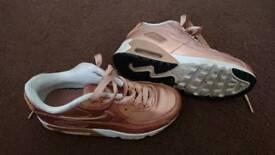 Girls Nike Air Max Rose Gold size 12