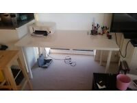 Desk, work table, white Ikea