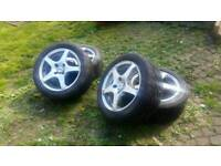 """15"""" TSW Apex-R alloys 4x100 (Vauxhall Corsa/Astra fitment) with New Yokohama Prada Tyres"""