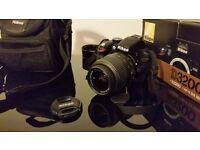 Nikon D D3200 24.2MP Digital SLR Camera - Black (Kit w/ AF-S DX VR 18-55mm Lens)