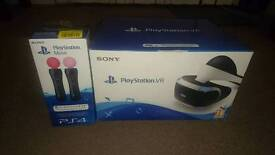 PLAYSTATION VR + 2 MOVE CONTROLLERS