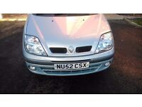 Renault MEGANE SCENIC 1.6 very good car and econimical. long mot. chip drive!!!!!!!