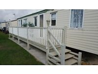 Caravan to rent Ingoldmells/Skegness 3 bedroom 6/8 burth great location very comfortable & Clean