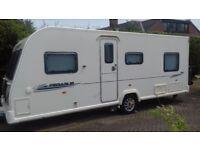 2010 Bailey Pegasus 524 Caravan (Reg.2011) - 4 berth, Single axle, Fixed bed