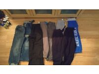 Huge boys clothing bundle with nike trainers, snow boots etc