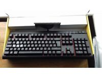 Corsair STRAFE, Cherry MX Silent, Red Backlit Mechanical Gaming Keyboard.