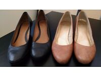 Classic authentic leather throughout court shoes pumps