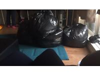4 bin bags and 1 suitcase or baby boy clothes