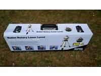 Unused bullet rotary laser level + aluminium case