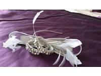 Pewter /silver fascinator