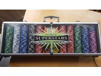 500 Piece Superstars Invitational Tournament Poker Set