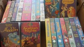 20 assorted vhs videos including disney films