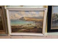 Lovely antique Irish oil painting. Glen Head Donegal