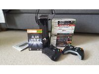 Xbox 360 250GB, 17 Games, £40 MS Points & Accessories
