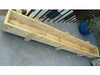 1.7 m Long wooden rustic planter